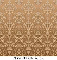 papel parede, seamless, damasco