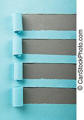 papel, pedaços, com, espaço, para, seu, mensagem