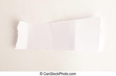 papel, pedazo
