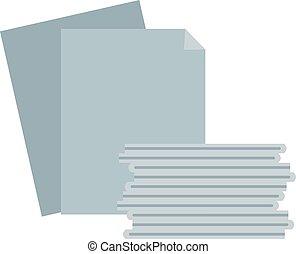papel, pila, ilustración
