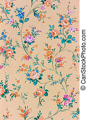 papel pintado, backgroun, viejo, plano de fondo, retro, floral
