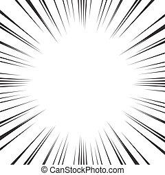 papel pintado, líneas, vector, plano de fondo, radial, ...
