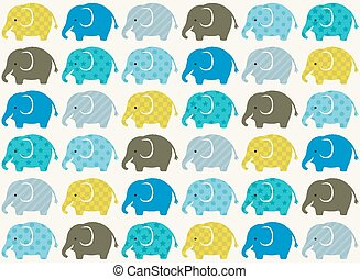 papel pintado, seamless, golpeteo, elefantes