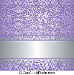 papel pintado, violeta, lujo, plata