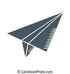 papel, pretas, avião
