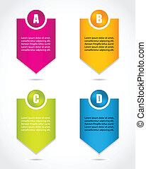 papel, progresso, labels-, produto, escolha, ou, versions,...