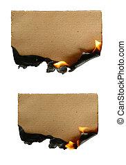 papel, queimadura