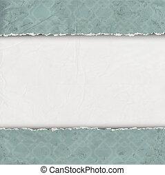 papel rasgado, antigas, borda
