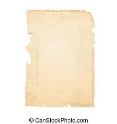 papel rasgado, antigas, folha