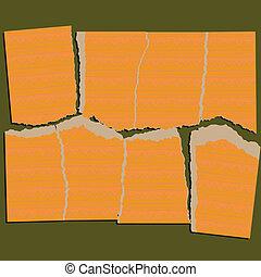 papel rasgado, quebra-cabeça, série