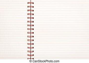 papel rayado, cuaderno