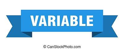 papel, ribbon., señal, variable, bandera, banda