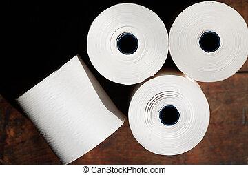 papel, rollos