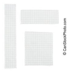 papel roto, blanco