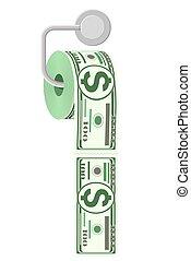 papel, servicio, madeja, dinero., dólar