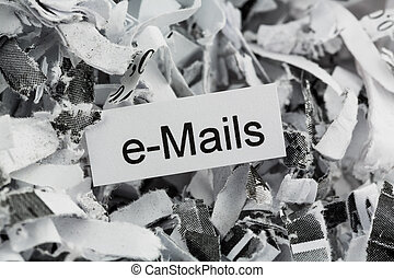 papel shredded, email, keyword