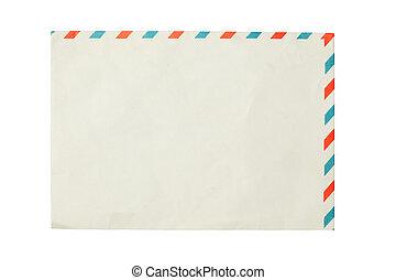 papel, sobre, aislado, blanco