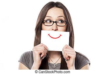 papel, sonrisa