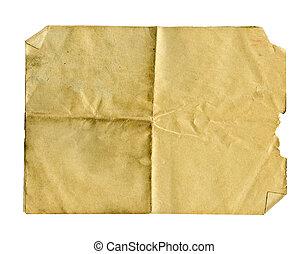 papel, sucio