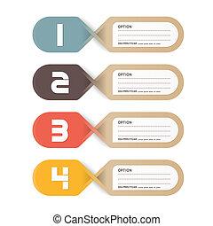 papel, tag., vector, precio