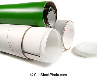 papel, tubos