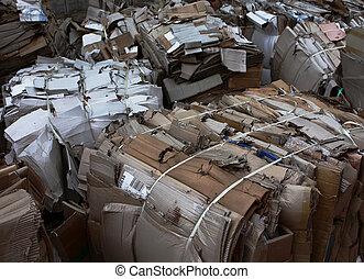 papel usado, reciclagem