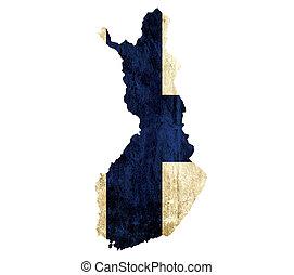 papel, vendimia, finlandia, mapa