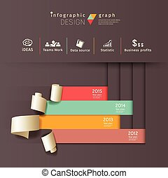 papel, vertical, rolo, infographics
