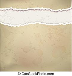 papel, vetorial, antigas, fundo