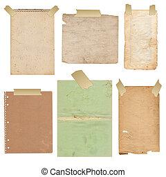 papel, viejo, folias