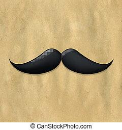 papel, viejo, moustaches