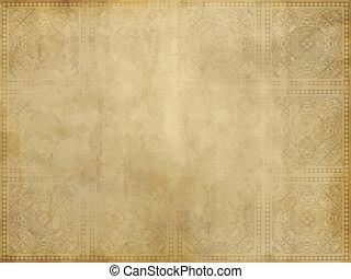 papel, viejo, o, pergamino
