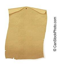 papel, wall., antigas, folha, vetorial, illustration.