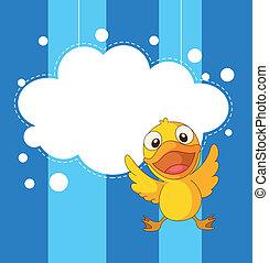 papelaria, brincalhão, duckling