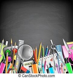 papelaria, escola, borda