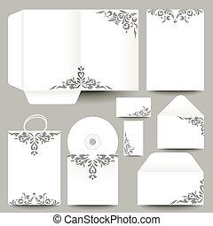 papelaria, vetorial, desenho