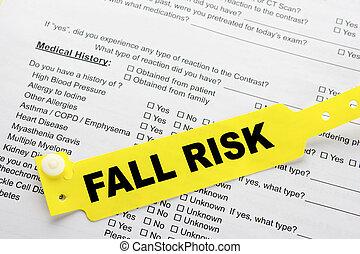 papeleo, hospital, riesgo, otoño