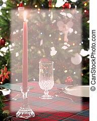papelería, cena, navidad, plano de fondo