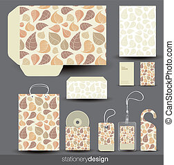papelería, diseño determinado