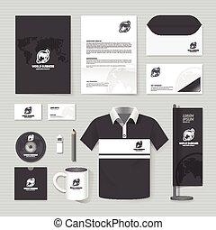 papelería, informe negocio, template/, template., carpeta, cubierta, cartel, camiseta, revista, size/, mockup, conjunto, aviador, vector, corporativo, folleto, diseño, disposición, folleto, anual, a4, identidad