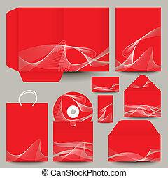 papelería, vector, diseño