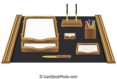 papelería, vector, oficina