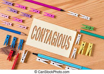 papeles, significado, de madera, clothespin, concepto, o, plano de fondo, vacío, contacto, recordatorio, contagious., directo, transmissible, indirecto, infected, escritura, individuo, texto, oficina., piso, coloreado