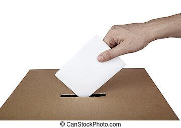 papeleta, votación, voto, caja, política, opción, elección