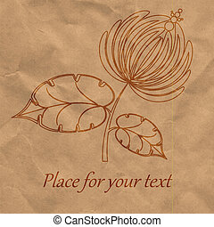 paper., グラフィック, eps10, 花