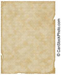 paper., 老, 空, 背景, textured