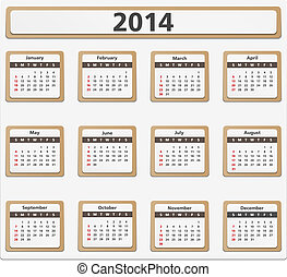 Paper 2014 calendar