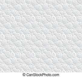 Paper 3D OM seamless pattern