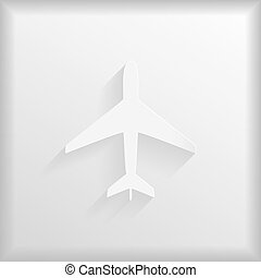 Paper aeroplane on a white background