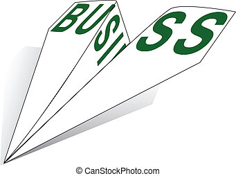 Paper Airplane business - Paper Airplane with the words...